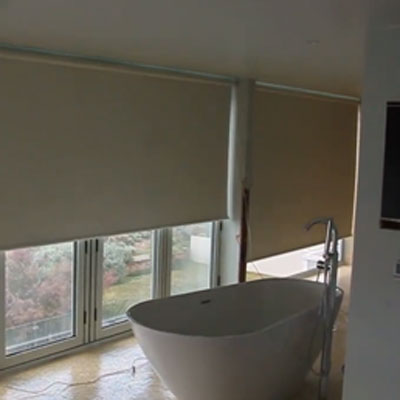 Blackout motorised electric roller blinds