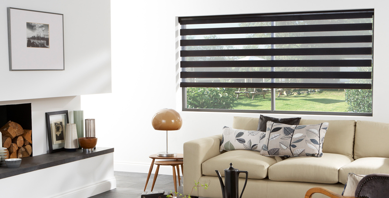 Louvolite Vision blinds in black
