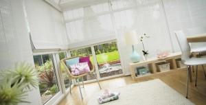 Louvolite wood weave blinds