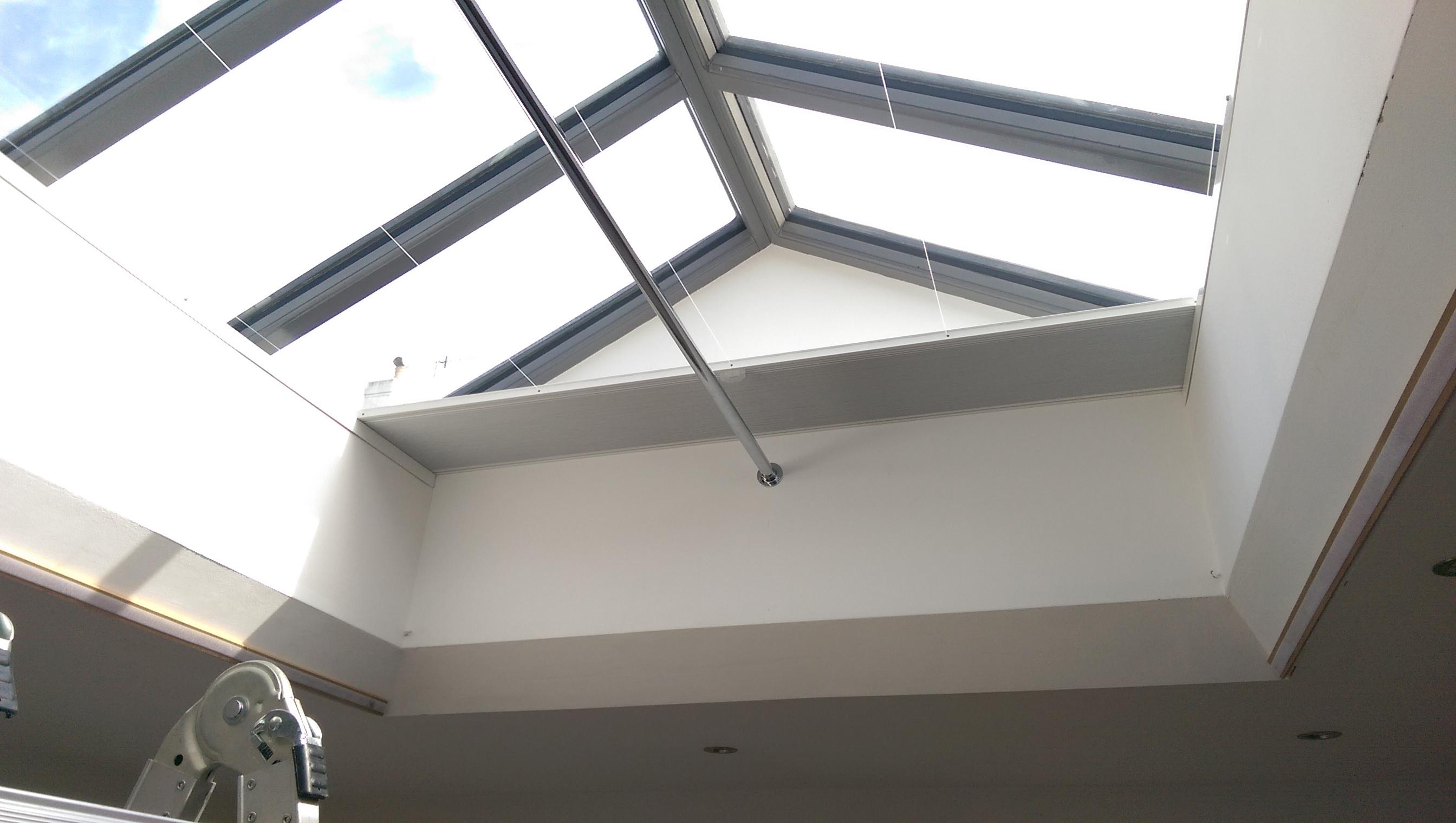 Duette skylight blind