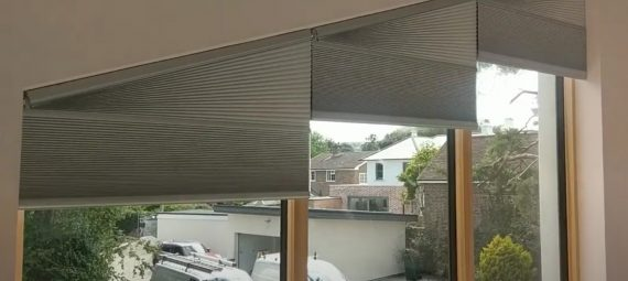 Sloping Duette Blinds